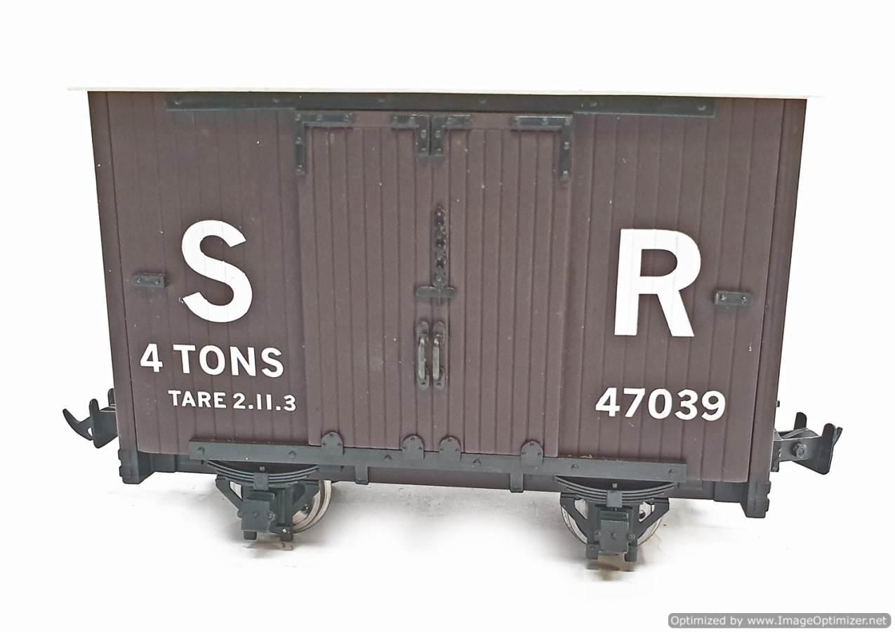 test L&b 4 wheel goods van #47039 garden rail live steam for sale (3)