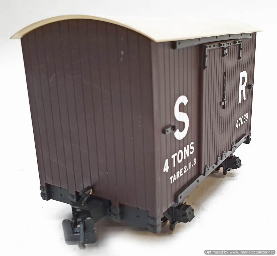 test L&b 4 wheel goods van #47039 garden rail live steam for sale (4)