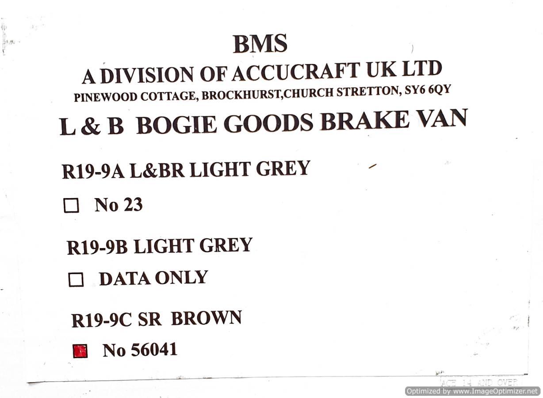 test L&b boogie goods brake van sr brown #56041 garden rail live steam for sale (1)