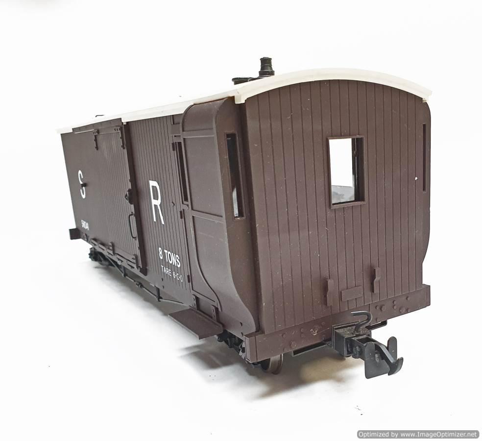 test L&b boogie goods brake van sr brown #56041 garden rail live steam for sale (7)