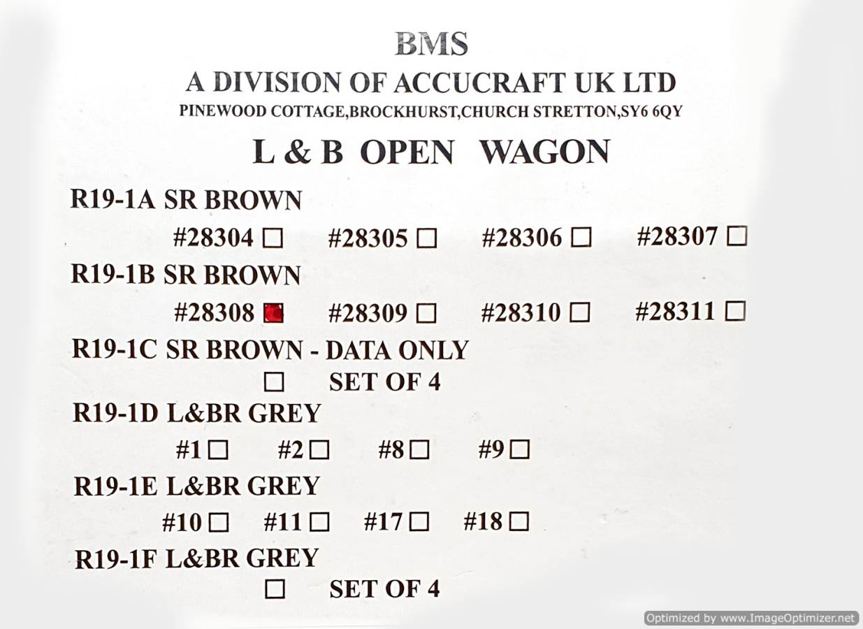 test L&b open wagon sr brown #28308 garden rail live steam for sale (1)