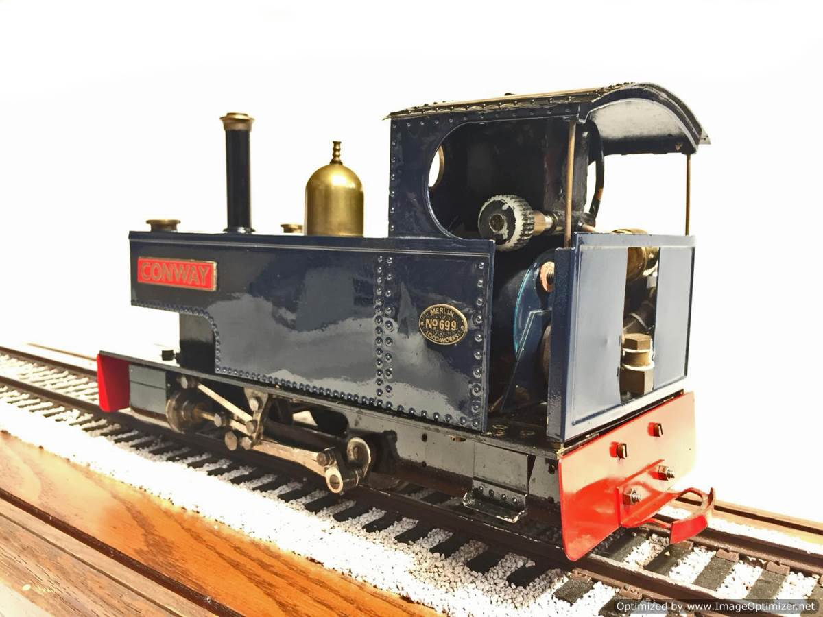 test Merlin Monarch Live Steam Garden Railway for Sale (3)