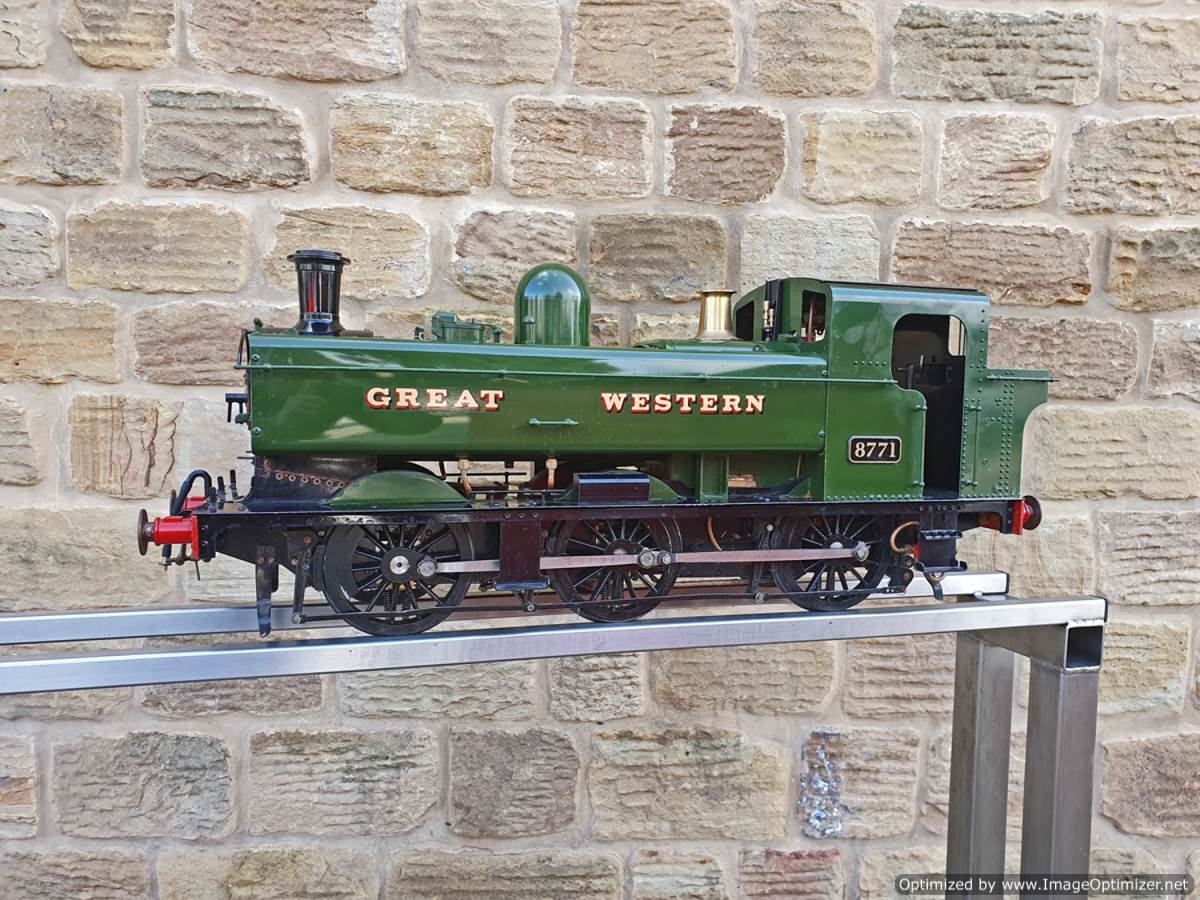 test 5 inch GWR Pannier tank Modelworks live steam for sale (1)