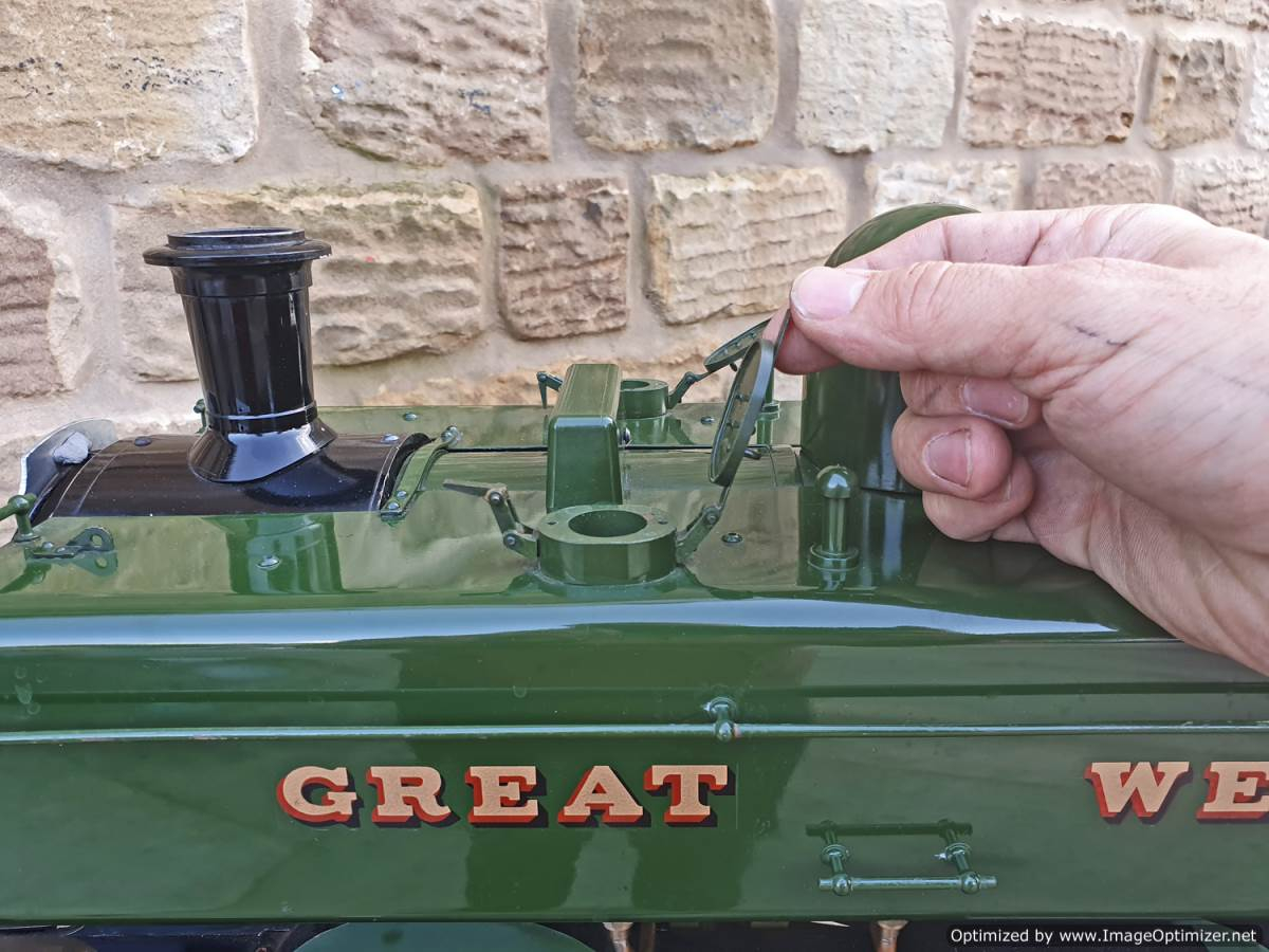 test 5 inch GWR Pannier tank Modelworks live steam for sale (17)