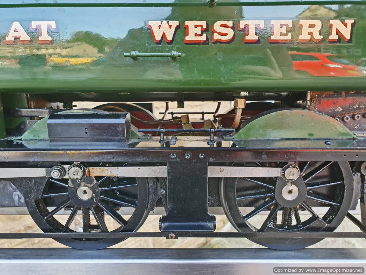 test 5 inch GWR Pannier tank Modelworks live steam for sale (5)