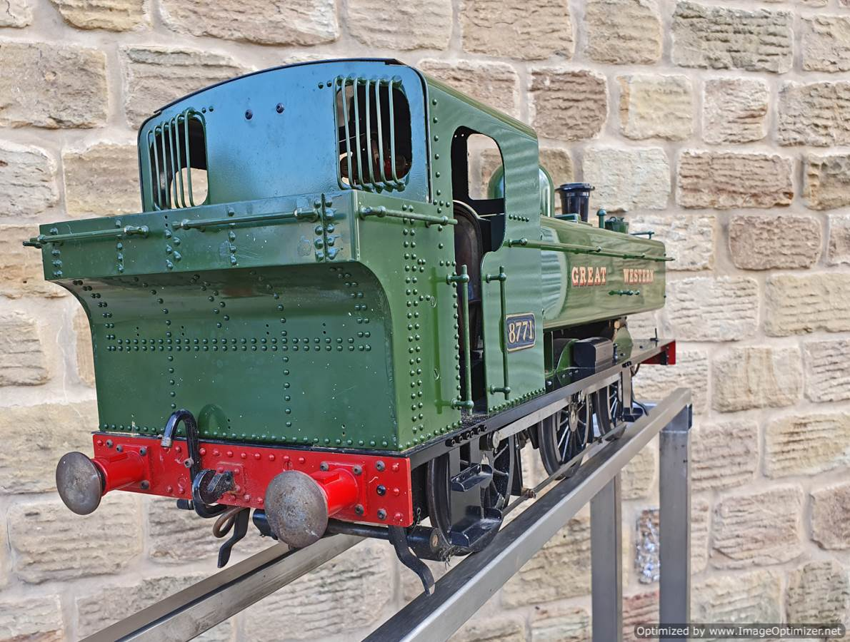 test 5 inch GWR Pannier tank Modelworks live steam for sale (6)