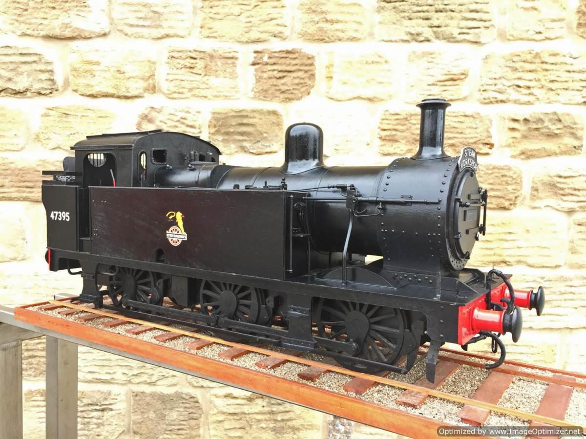 test 5 inch gauge LMS 3F Jinty live steam locomotive for sale (1)
