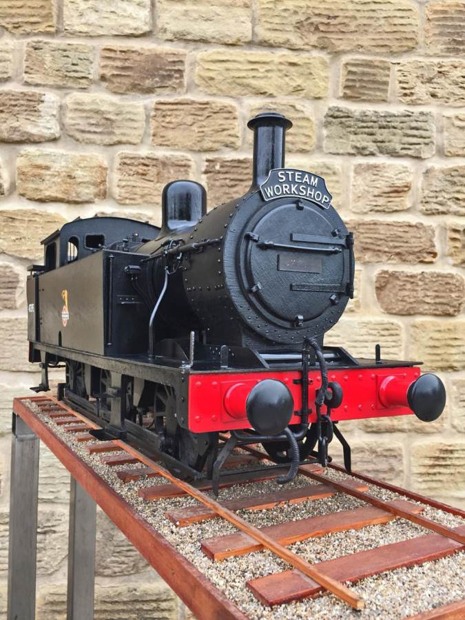 test 5 inch gauge LMS 3F Jinty live steam locomotive for sale (4)