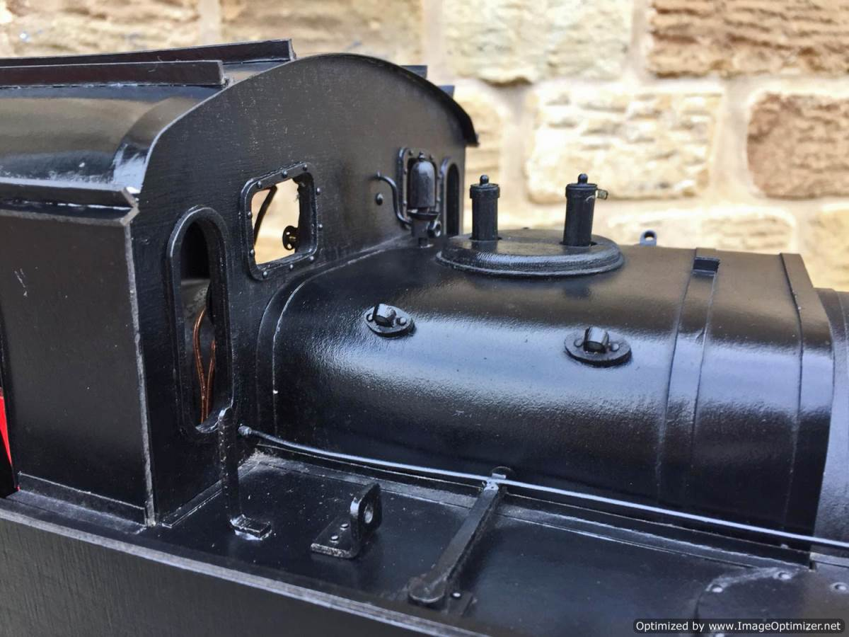 test 5 inch gauge LMS 3F Jinty live steam locomotive for sale (5)