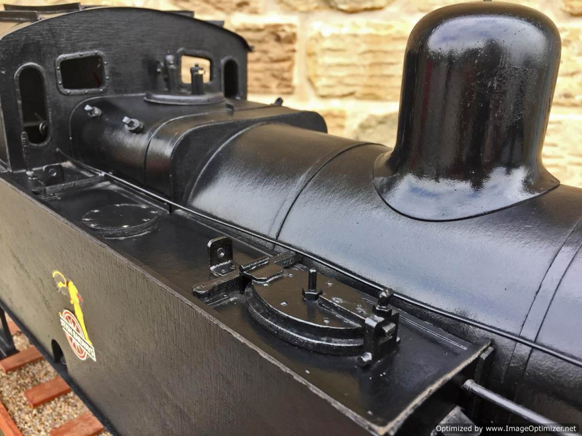 test 5 inch gauge LMS 3F Jinty live steam locomotive for sale (6)