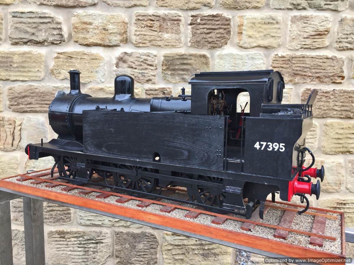 test 5 inch gauge LMS 3F Jinty live steam locomotive for sale (9)