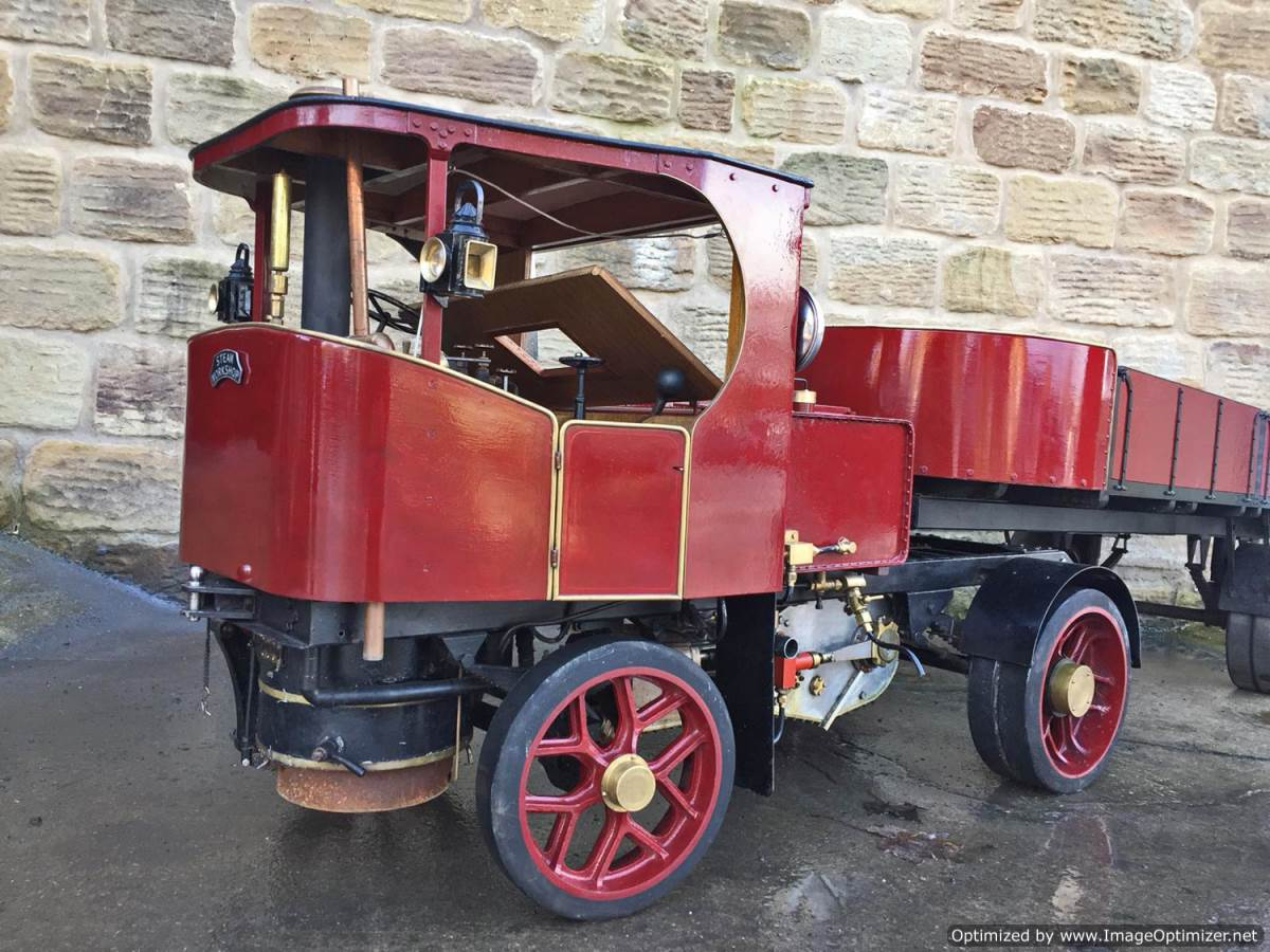 test 3 inch scale Clayton Undertype Live Steam Lorry for Sale (1)
