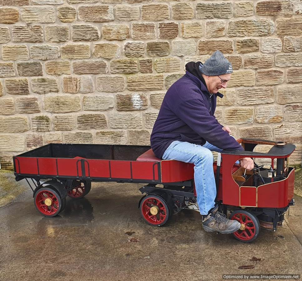test 3 inch scale Clayton Undertype Live Steam Lorry for Sale (26)