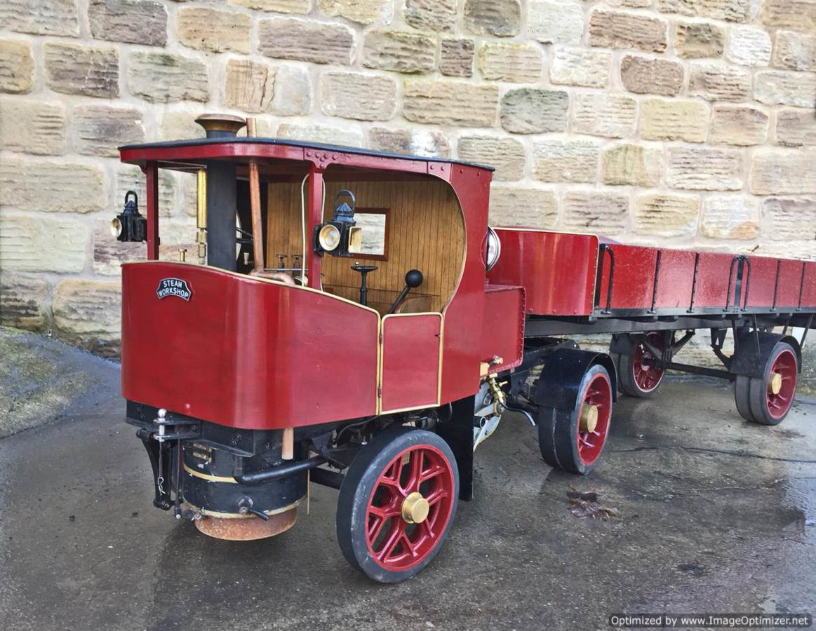 test 3 inch scale Clayton Undertype Live Steam Lorry for Sale (3)
