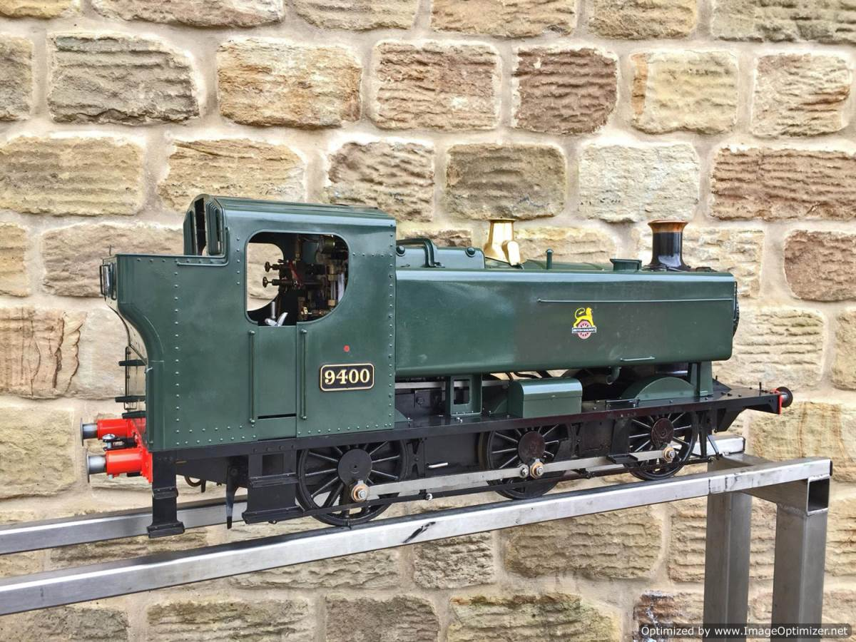 test 5 inch Gauge GWR 94xx Pannier Tank Live Steam for Sale (1)