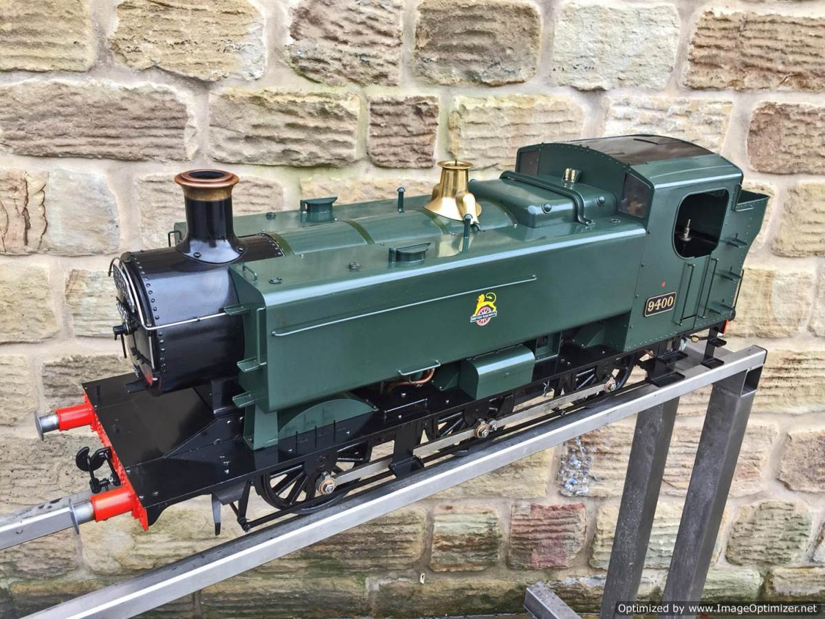 test 5 inch Gauge GWR 94xx Pannier Tank Live Steam for Sale (11)