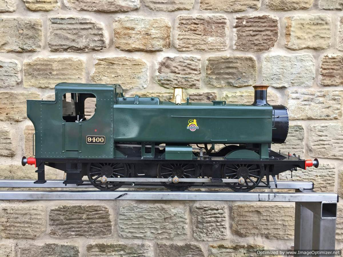 test 5 inch Gauge GWR 94xx Pannier Tank Live Steam for Sale (16)