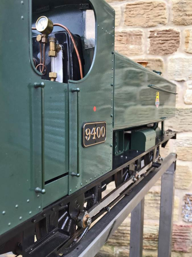 test 5 inch Gauge GWR 94xx Pannier Tank Live Steam for Sale (21)