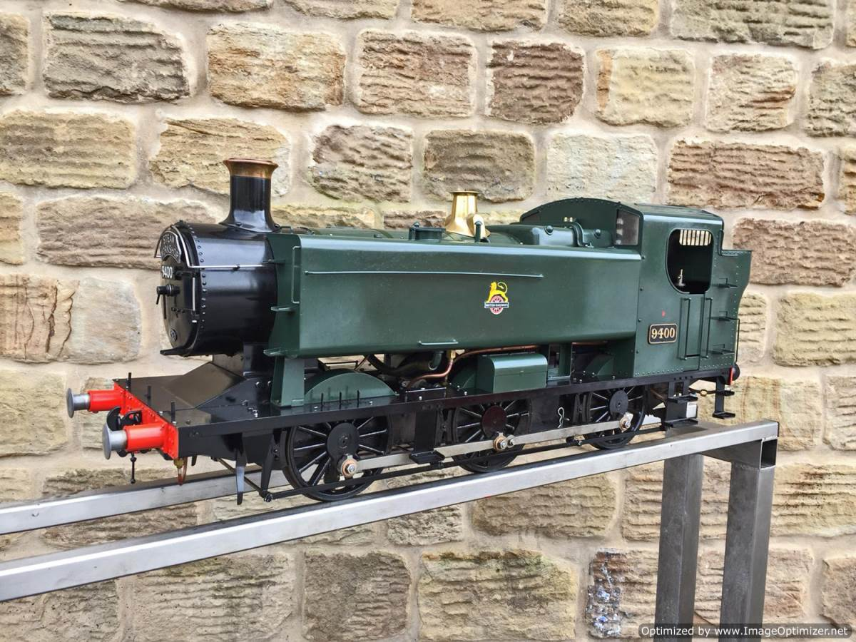 test 5 inch Gauge GWR 94xx Pannier Tank Live Steam for Sale (9)