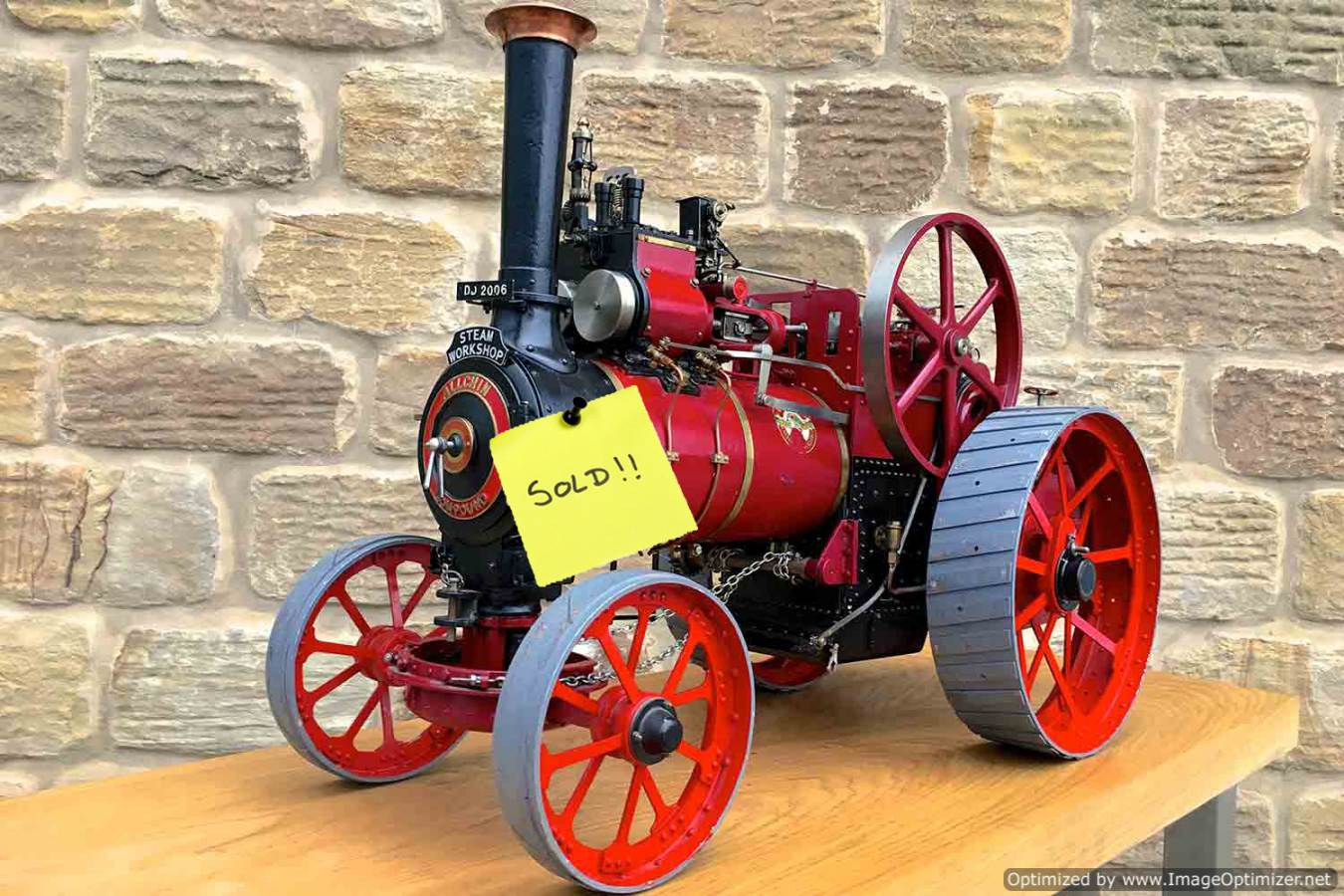 test Royal-Chester-Alchin-DCC-traction-engine-live-steam-SOLD