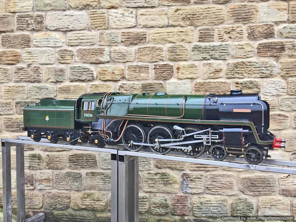 test 5 inch BR Britannia live steam for sale (1)