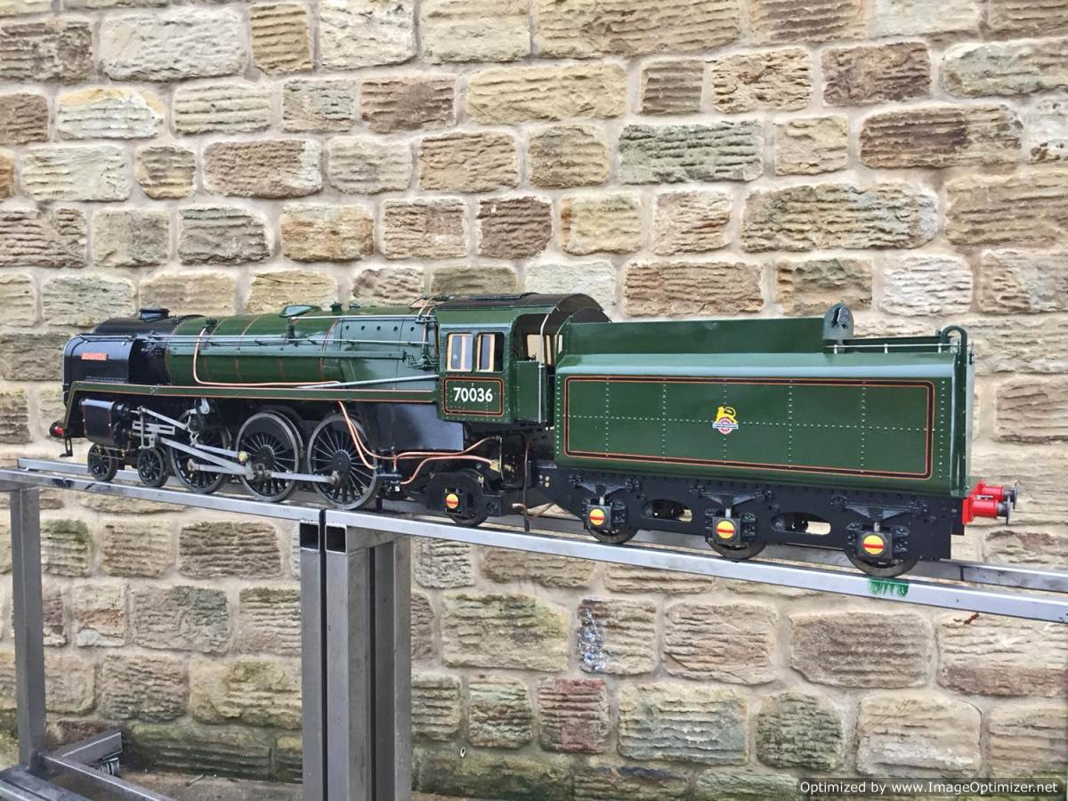 test 5 inch BR Britannia live steam for sale (21)