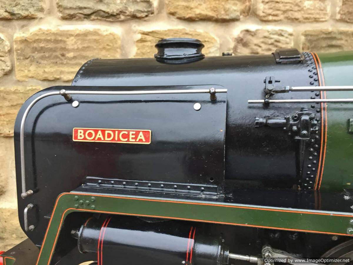 test 5 inch BR Britannia live steam for sale (22)