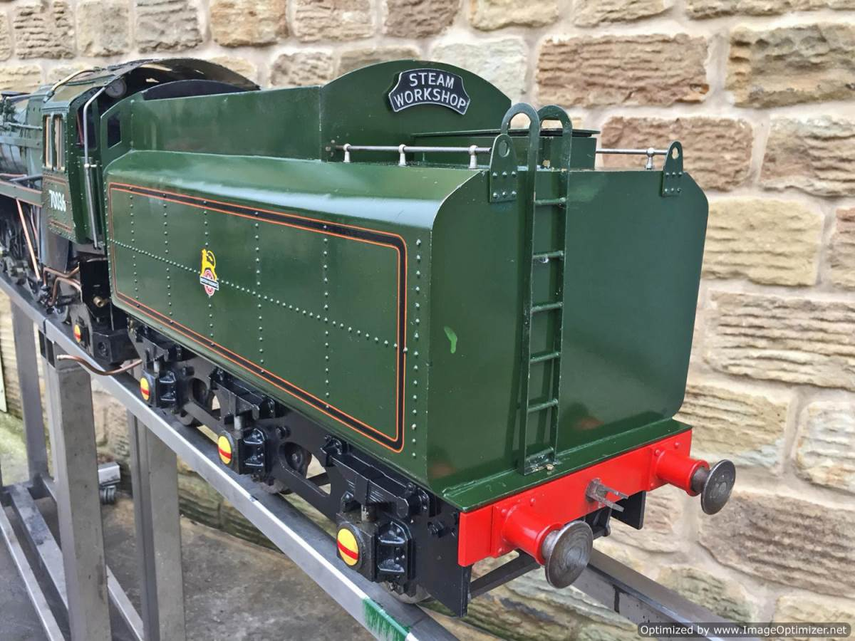 test 5 inch BR Britannia live steam for sale (25)