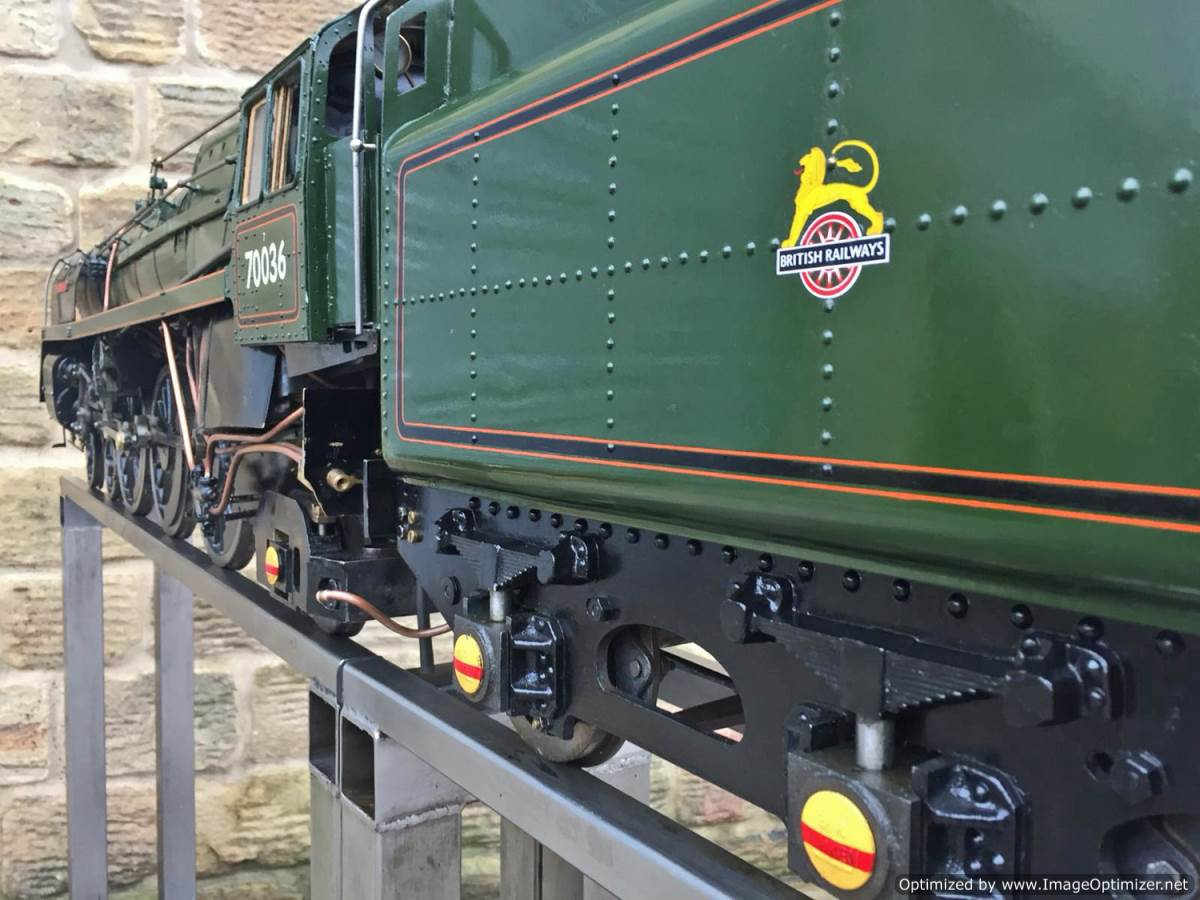 test 5 inch BR Britannia live steam for sale (30)