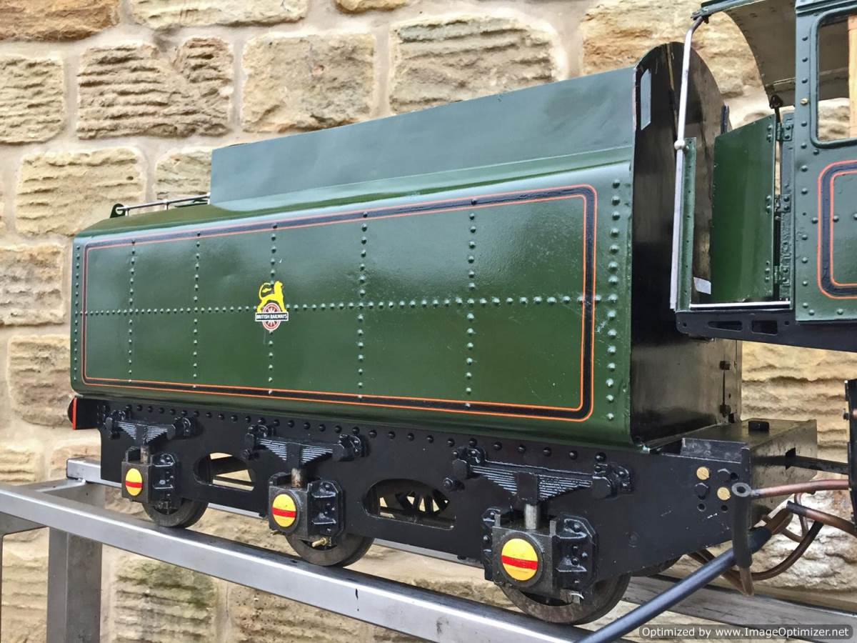 test 5 inch BR Britannia live steam for sale (7)