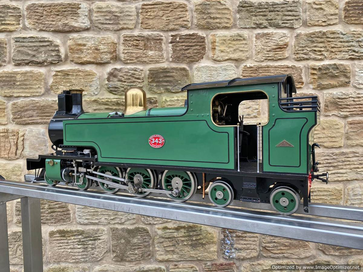test 3 and a half inch SAR J Class live steam locomotive for sale (13)