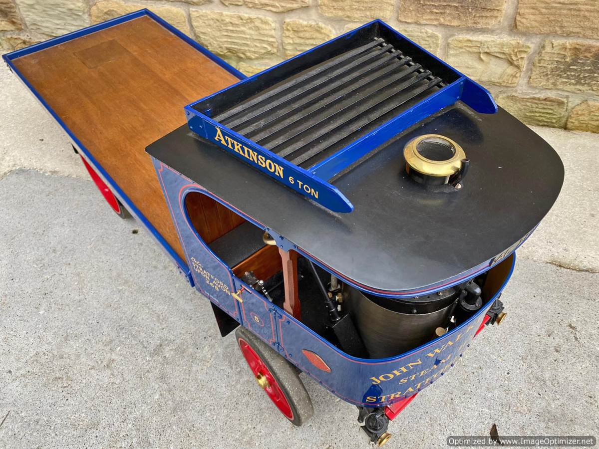 test 3 inch Atkinson Live Steam Lorry for Sale (11)
