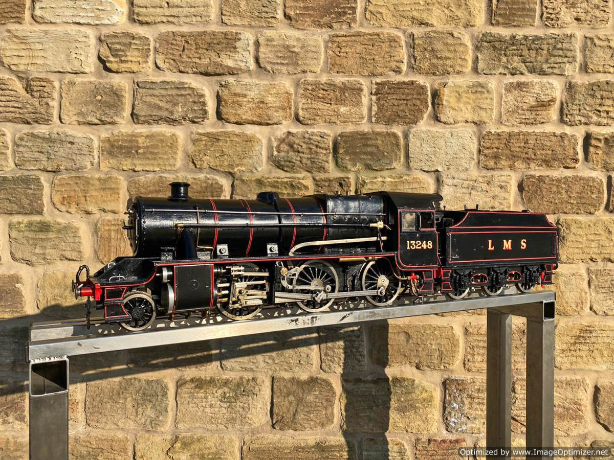 test 3 and a half inch LMS Stanier Mogul Princess Marina Live Steam For Sale (1)