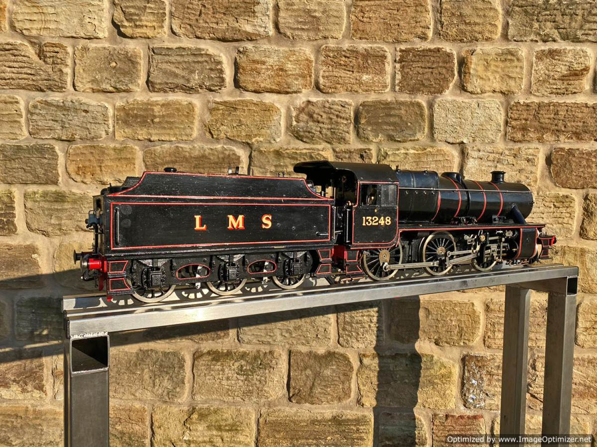 test 3 and a half inch LMS Stanier Mogul Princess Marina Live Steam For Sale (15)