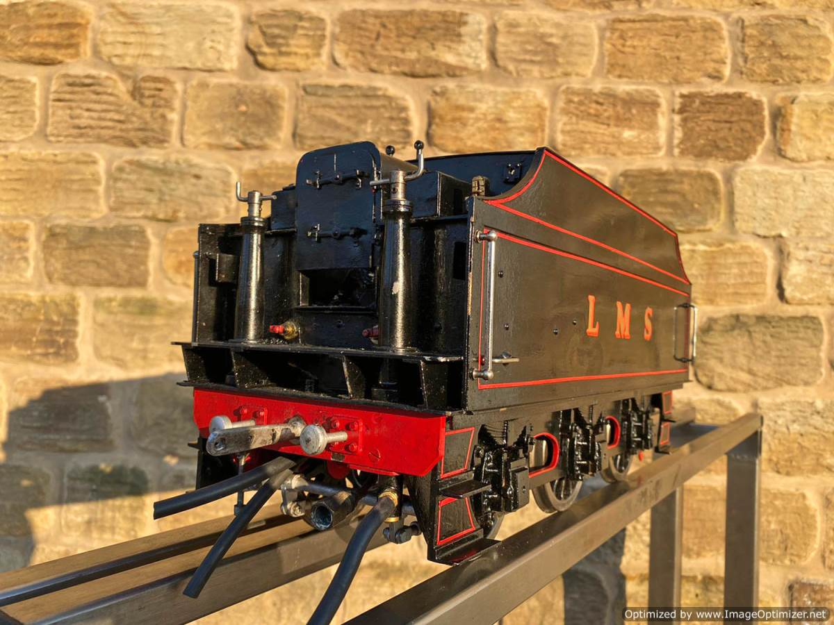 test 3 and a half inch LMS Stanier Mogul Princess Marina Live Steam For Sale (35)