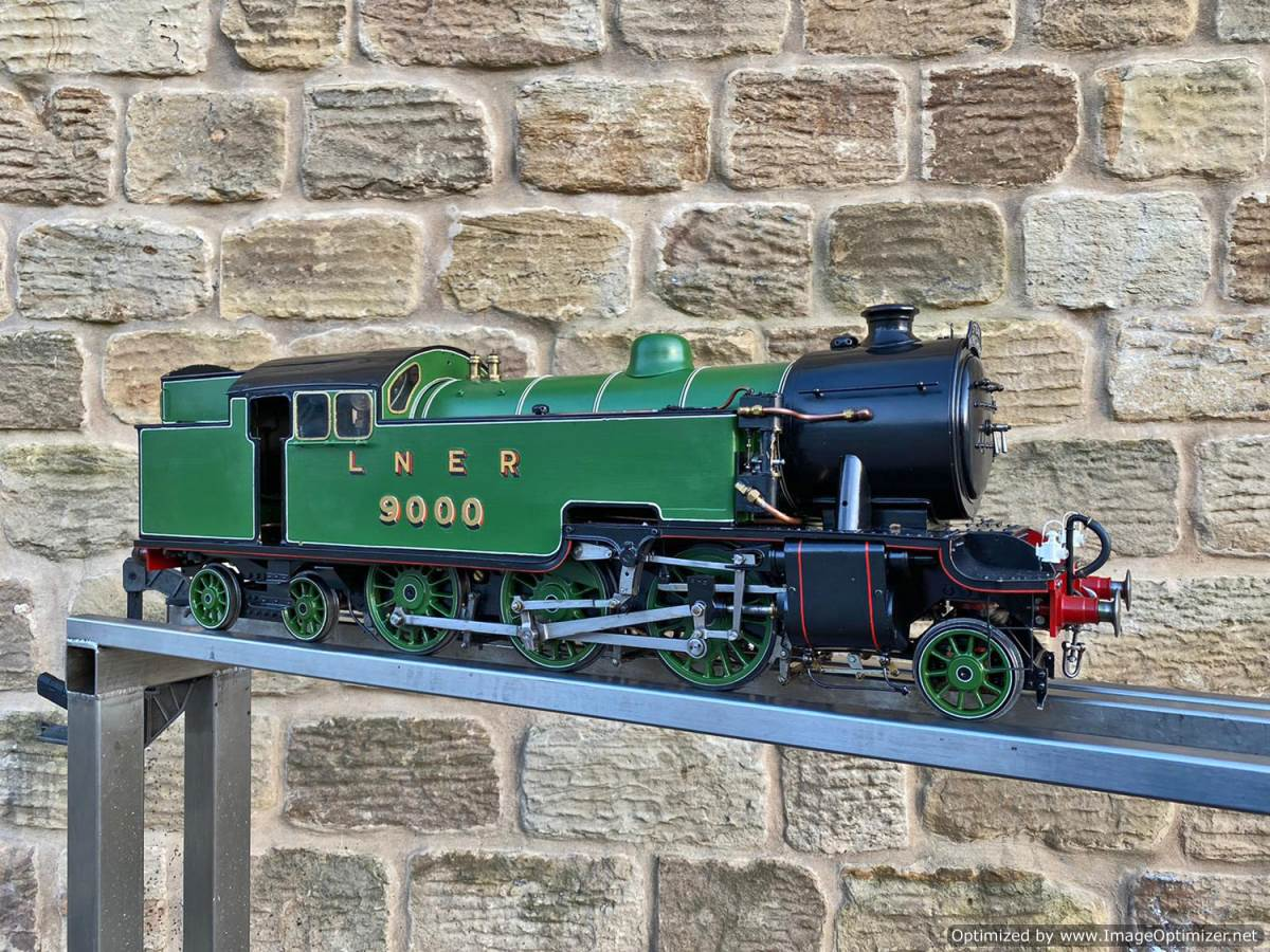 test 3 and a half inch LNER L1 live steam for sale (14)