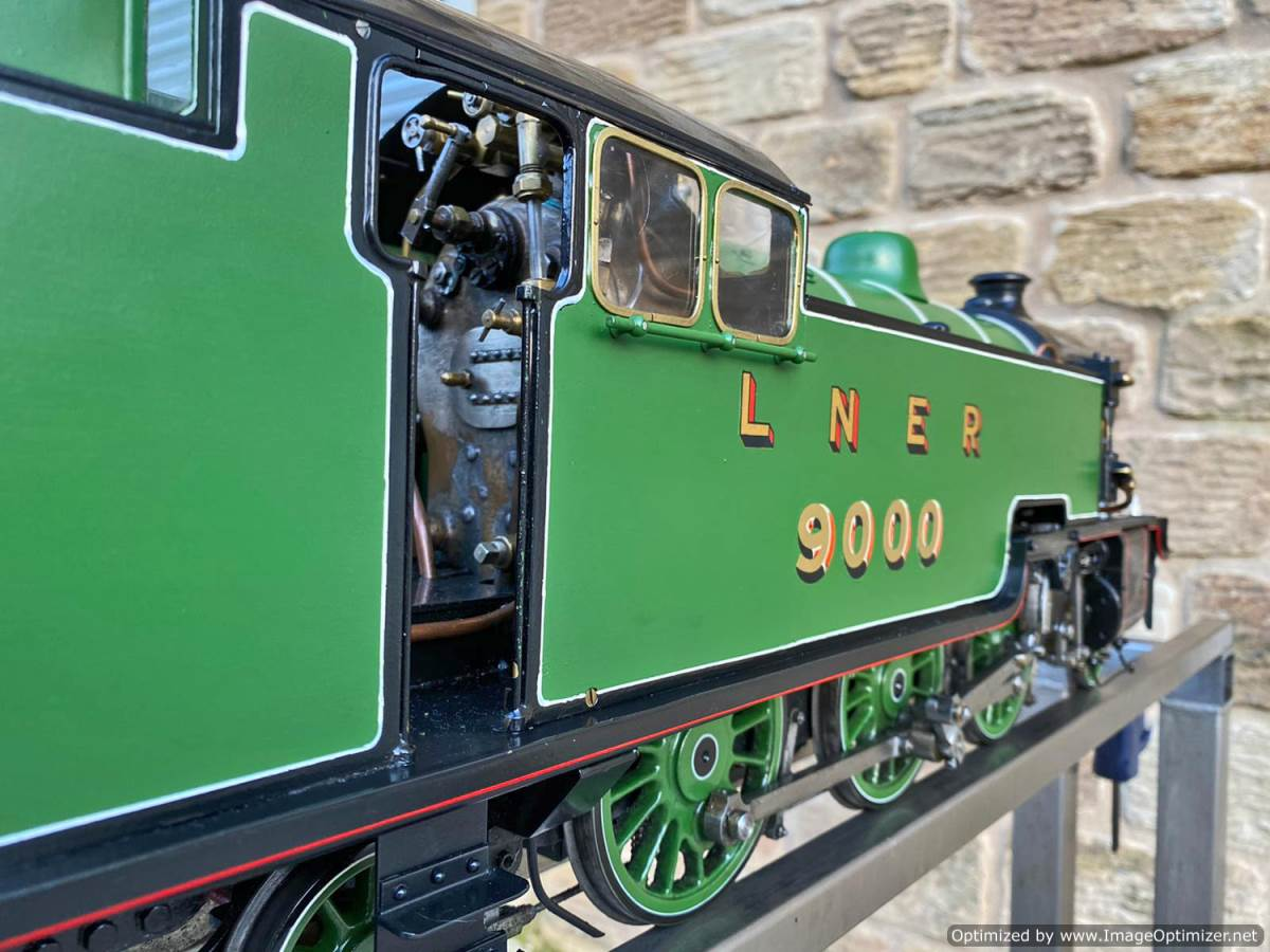 test 3 and a half inch LNER L1 live steam for sale (15)