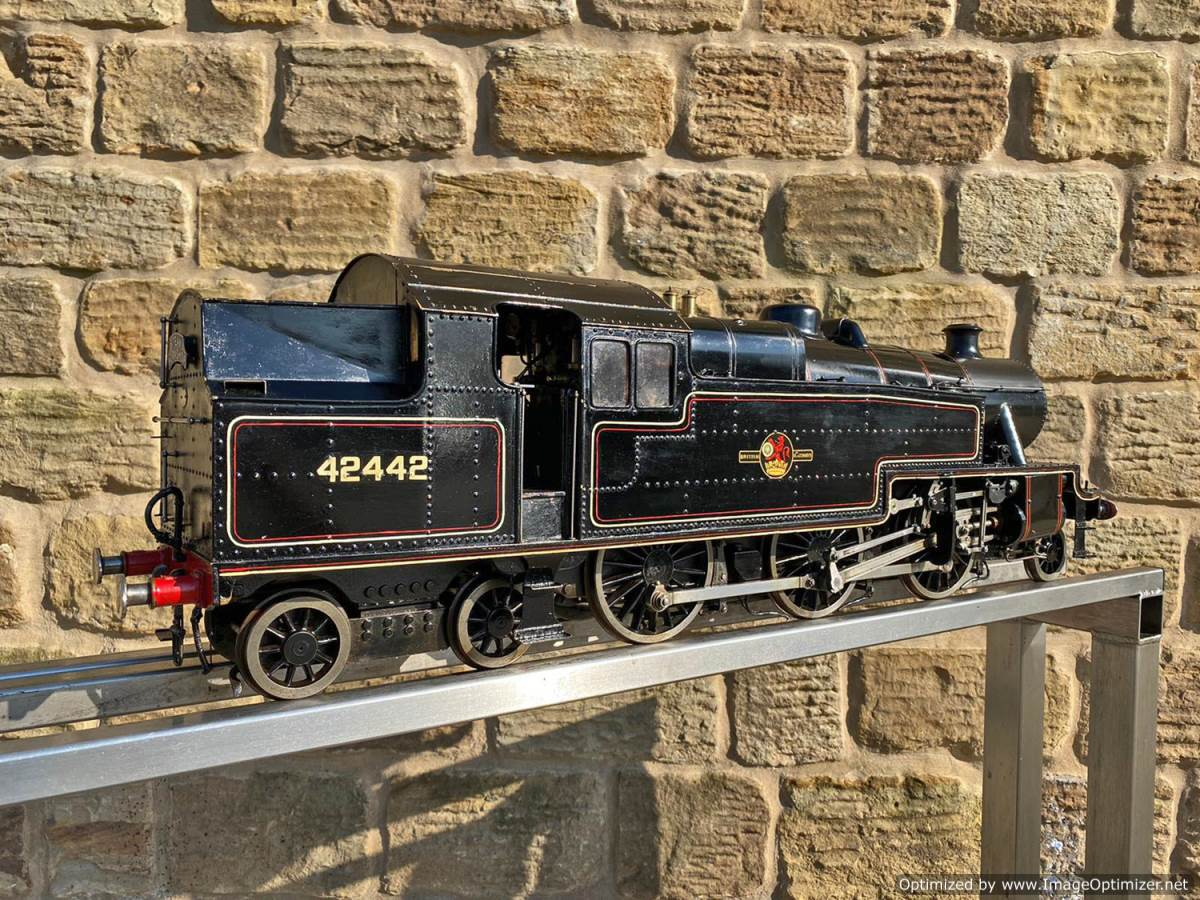 test 3 and a half inch gauge Stanier Class 4 tank Live Steam for Sale (15)