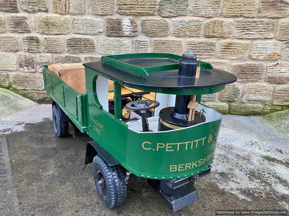 test 3 inch scale sentinel Steam Lorry Electric for sale (Green) (9)