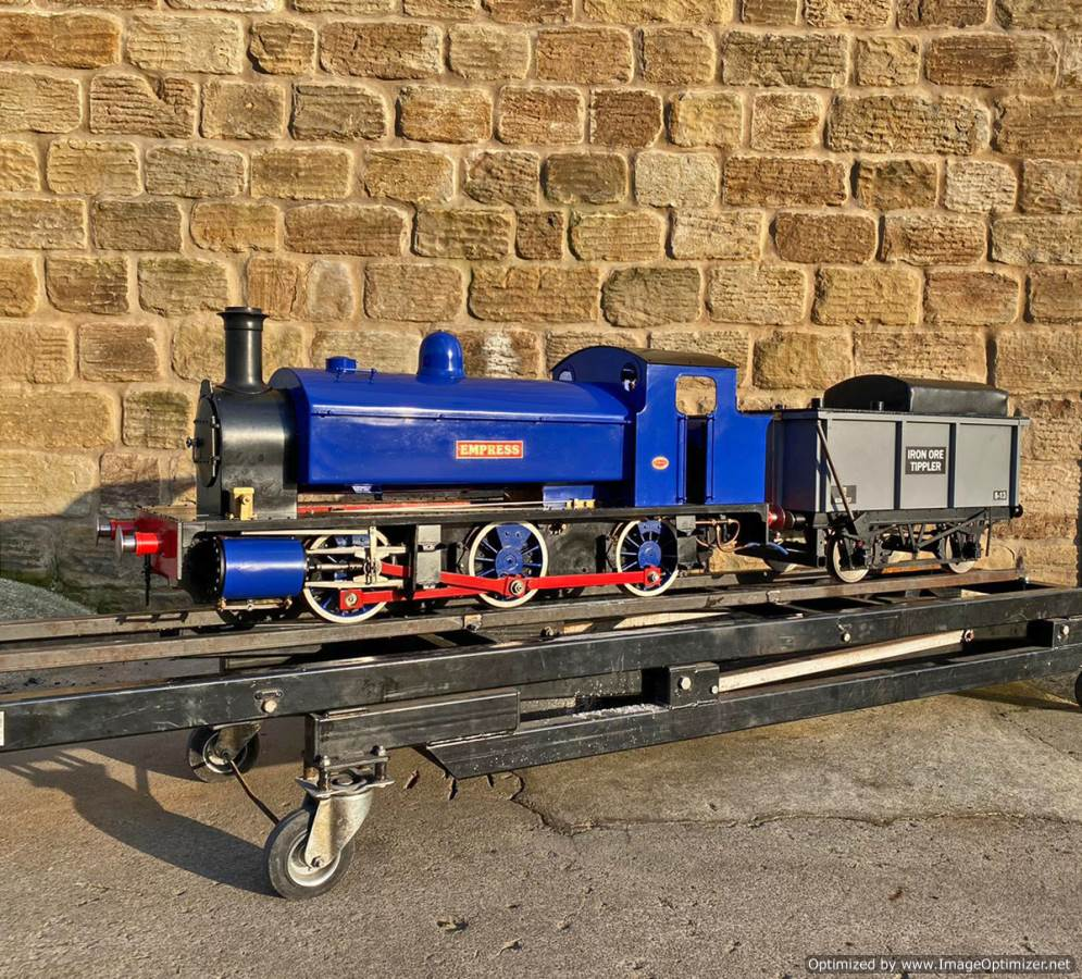 test 7 and a quater inch Holmside live steam locomotive for sale (1)