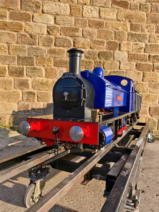 test 7 and a quater inch Holmside live steam locomotive for sale (13)