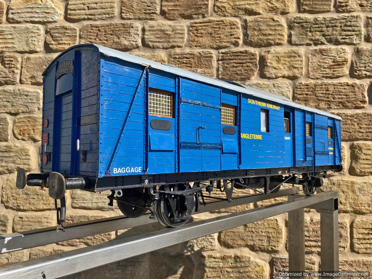 test 5 inch Fish Train Van Live Steam for Sale (11)