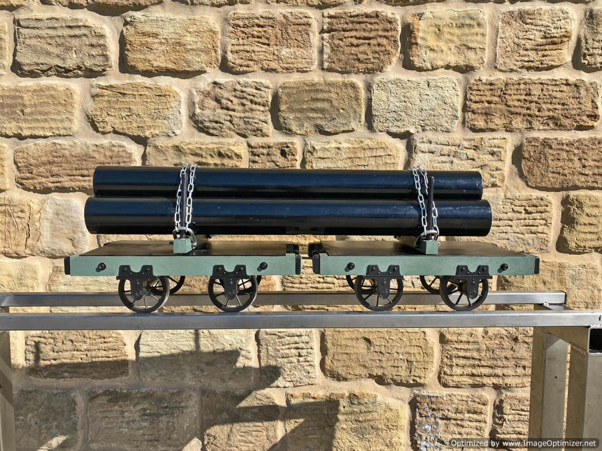 test 5 inch Narrow Gauge Pipe Wagon Live Steam For Sale (1)