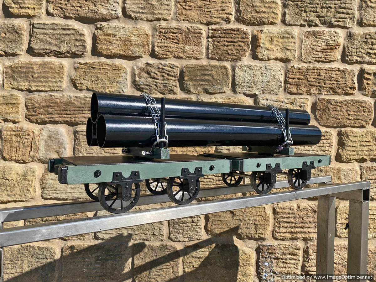 test 5 inch Narrow Gauge Pipe Wagon Live Steam For Sale (10)