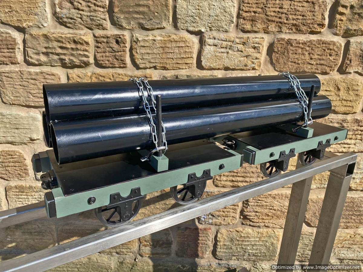 test 5 inch Narrow Gauge Pipe Wagon Live Steam For Sale (7)