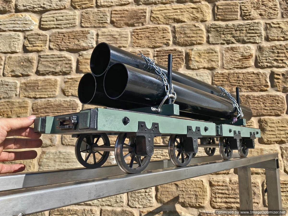 test 5 inch Narrow Gauge Pipe Wagon Live Steam For Sale (8)