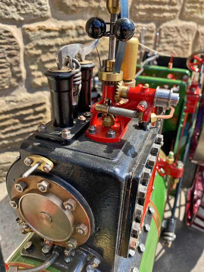test 3 inch scale Burrell Traction Engine Plastow Live Steam for sale (14)