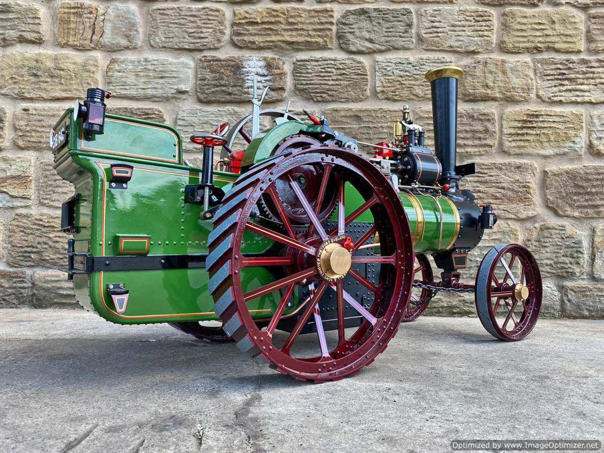 test 3 inch scale Burrell Traction Engine Plastow Live Steam for sale (18)