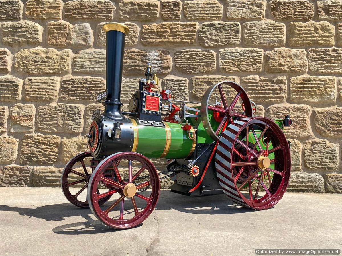 test 3 inch scale Burrell Traction Engine Plastow Live Steam for sale (2)