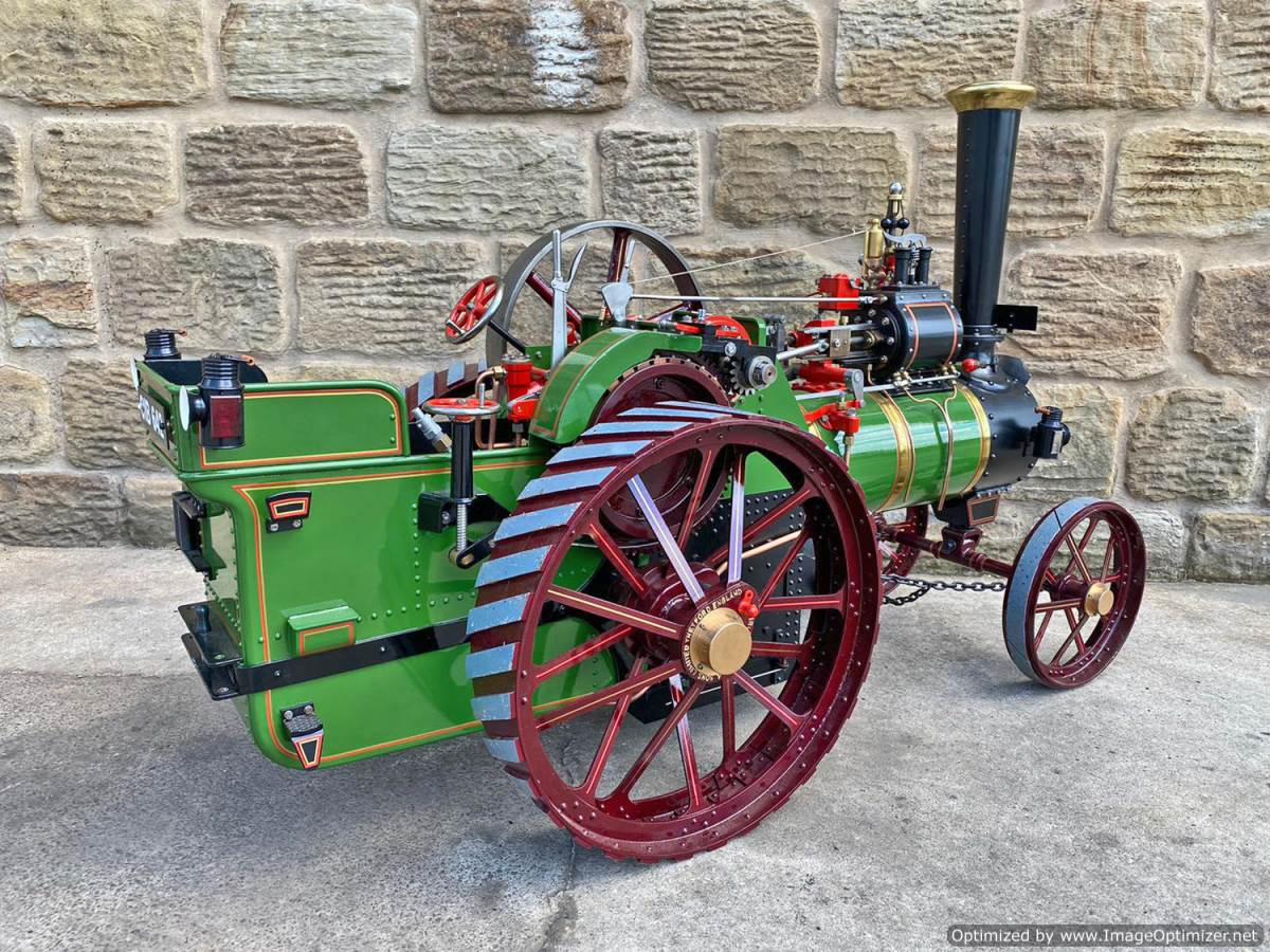 test 3 inch scale Burrell Traction Engine Plastow Live Steam for sale (21)